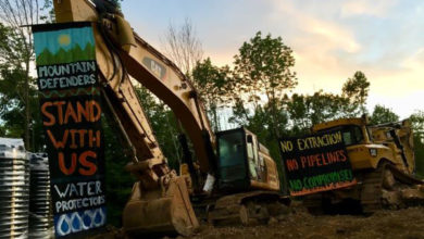 Mountain Valley Pipeline Protest Ends in Arrest